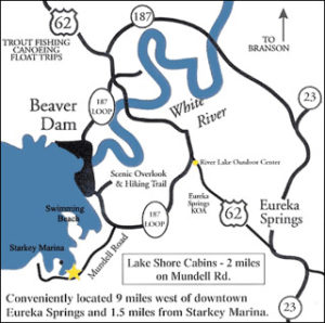 Map of Lake Shore Cabins