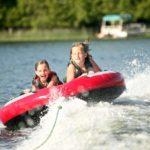 Beaver lake inner tubing